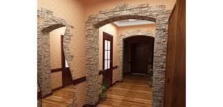 отделка арки декоративным камнем 1