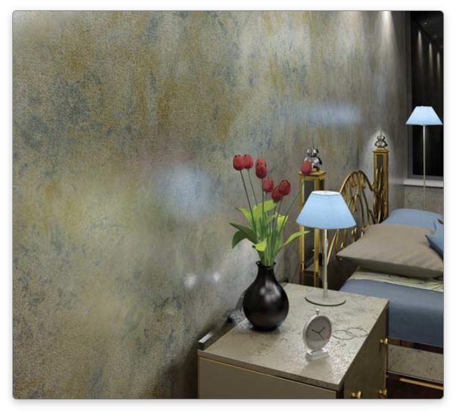 Покраска стен патинированные стены